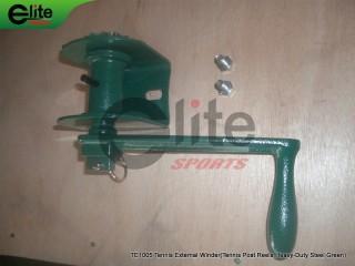 TE1005-Tennis Post Reels,External Winder,Steel,Green