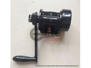 TE1006-Tennis Post Reels,External Winder,Aluminum,Black