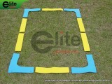 TE3001-Tennis Court Marker Lines,Rubber,Blue/Yellow