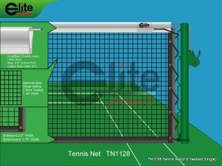 TN1128-Tennis Net,2.8mm Twisted Netting,Single