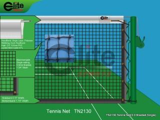 TN2130-Tennis Net,3.0mm Braided Netting,Single