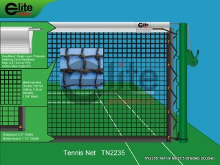 TN2235-Tennis Net,3.5mm Braided Netting,Double