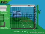 Tennis Net,3.0mm Braided Netting,Leather handband,Single-TN3130
