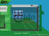 TN3235-Tennis Net,3.5mm Braided Netting,Leather handband,Double