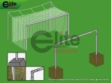 SS1019-Professional Soccer Goal,Aluminum,24'x8'