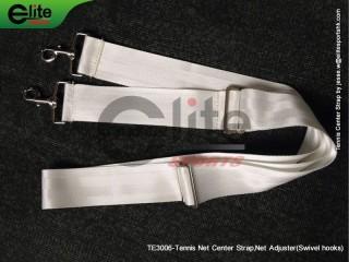 TE3006-Tennis Net Center Strap,Net Adjuster,Swivel hooks