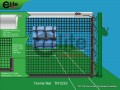 TN1235-Tennis Net,3.5mm Braided Netting,Double