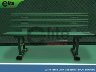 TE2104-Tennis Outdoor Bench,Tennis Courtside Bench,Aluminum,Length 1.5m