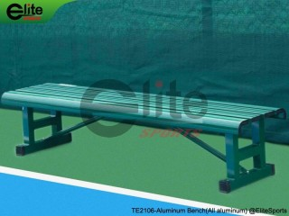 TE2106-Tennis Outdoor Bench,Tennis Courtside Bench,Aluminum,Length 1.8m