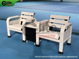 TE2107-Tennis Outdoor Bench,Tennis Courtside Bench,Aluminum,single seat