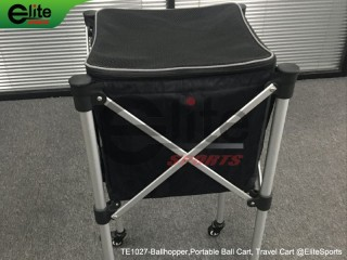 TE1023-Tennis Ballhopper, Portable Ball Cart, Travel Cart